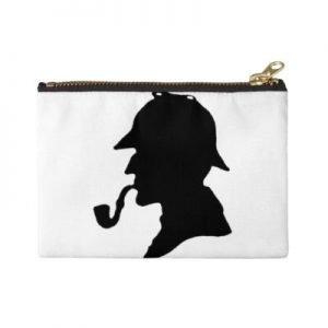 Sherlock Holmes Silhouette Zipper Pouch